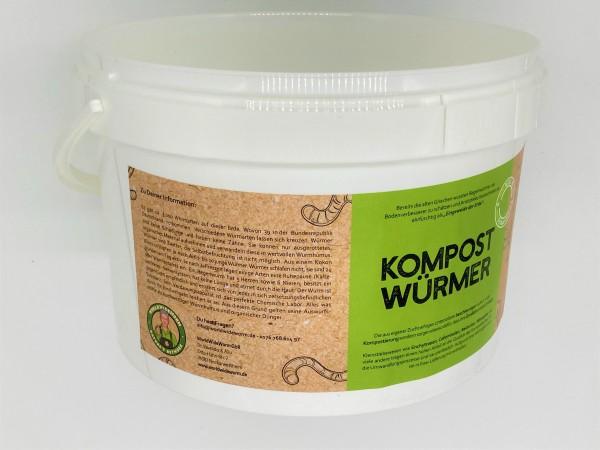 Kompostwürmer 100 Stück - Kompostbeschleuniger Regenwürmer Eisenia Wurmkomposter